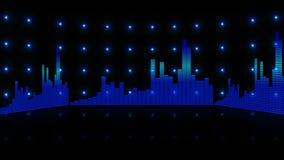 Entzerrerstangen-Frequenzhintergrund 4K stock footage