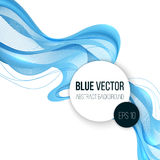 Entziehen Sie blaue wellenförmige Zeilen Stockbilder