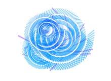 Entziehen Sie blauen weißen Strudel-Hintergrund stock abbildung