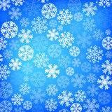 Entziehen Sie blauen Weihnachtshintergrund Lizenzfreie Stockfotos