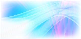 Entziehen Sie blauen Wellenhintergrund. Lizenzfreie Stockfotos