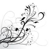 Entziehen Sie Blumenhintergrund stock abbildung