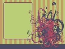 Entziehen Sie Blumenhintergrund Lizenzfreies Stockfoto