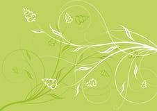 Entziehen Sie Blumenhintergrund. Stockbilder