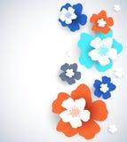 Entziehen Sie Blumenhintergrund Lizenzfreies Stockbild