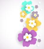 Entziehen Sie Blumenhintergrund Lizenzfreie Stockfotos