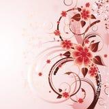 Entziehen Sie Blumenhintergrund Stockbild