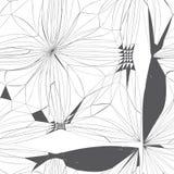 Entziehen Sie Blumenhintergrund lizenzfreie abbildung