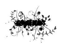 Entziehen Sie Blumenhintergrund, Elemente für Auslegung, Vektor Lizenzfreies Stockbild
