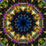 Entziehen Sie Blumenhintergrund Ethnisches Muster der Fantasie Bunte Kaleidoskopbeschaffenheit Dekorative Mandalaverzierung vektor abbildung