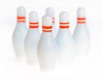 Entziehen Sie Bowlingspielstifte Stockfoto