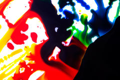 Entziehen Sie cmyk Farben Stockfotos
