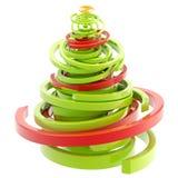 Entziehen Sie den twirly glatten getrennten Weihnachtsbaum Stockfotografie