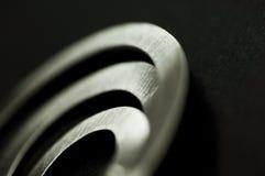 Entziehen Sie Detail der silbernen Metallschmucksachen Lizenzfreies Stockbild