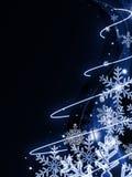 Entziehen Sie dunkelblauen Weihnachtshintergrund Stockfoto