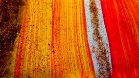 Entziehen Sie gemalten Hintergrund Bunte flüssige Effekte Schmutzflecken zerstreut auf Hintergrund Gut für: Wand-Kunst, Karten, D stockfotografie