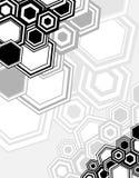 Entziehen Sie geometrischen Hintergrund von den Hexagonen Stockfotos