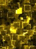 Entziehen Sie goldenen quadratischen Hintergrund Lizenzfreies Stockbild