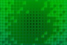 Entziehen Sie grüne Glasblöcke Stockbild