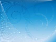 Entziehen Sie grafischen Hintergrund mit Spiralen Stockbild