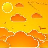 Entziehen Sie Herbsthimmel lizenzfreie abbildung