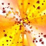 Entziehen Sie Herbsturlaub-Spiralehintergrund Lizenzfreies Stockbild