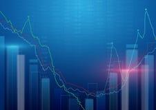 entziehen Sie Hintergrund Börsehintergrund Lizenzfreie Stockfotografie