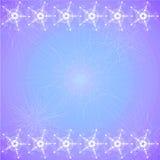 entziehen Sie Hintergrund Blaue lila Farbe und mit dekorativen Mustern auf Spitzenunterseite Lizenzfreie Stockbilder