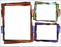 Entziehen Sie Hintergrund - bunte Vierecke Lizenzfreie Stockfotos