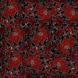 entziehen Sie Hintergrund Eisige Muster auf dem Glas Rot Lizenzfreie Stockbilder