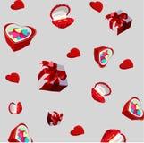 entziehen Sie Hintergrund Hintergrund auf Valentinstag Lizenzfreies Stockfoto
