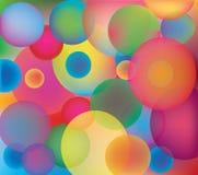 Entziehen Sie Hintergrund mit Farbenkreisen. Stockbilder