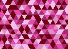 entziehen Sie Hintergrund Rosafarbener Mosaikhintergrund Stock Abbildung