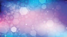 entziehen Sie Hintergrund Sechseckiger greller Glanz auf den kosmischen Steigungsfarben mit vertikalen Linien Stockfotos
