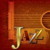 Entziehen Sie Jazzmusikhintergrund Stockbild