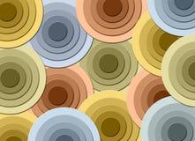 Entziehen Sie Kreis-Hintergrund stock abbildung