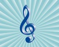 Entziehen Sie Musikhintergrund Lizenzfreie Stockfotos