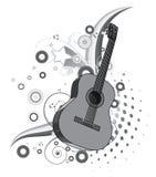 Entziehen Sie Musikhintergrund Stockbild