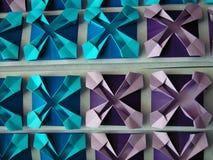 Entziehen Sie origami Muster lizenzfreies stockbild