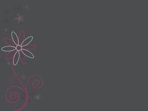 Entziehen Sie rosafarbene Blumen Lizenzfreies Stockfoto