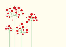 Entziehen Sie rote Blumen Stockfotos
