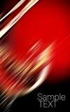Entziehen Sie roten und schwarzen Hintergrund Stockbild