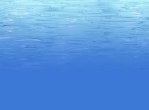 Entziehen Sie Unterwasserhintergrund mit Wasserbeschaffenheit Lizenzfreies Stockbild