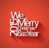Entziehen Sie vektortypographie Weihnachtskarte Lizenzfreies Stockbild
