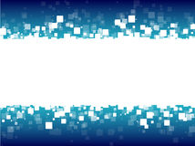 Entziehen Sie weiße Quadrate des blauen futuristischen Hintergrundes Stockbild