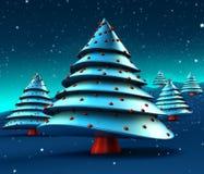 Entziehen Sie Weihnachtsbaum-Auslegung vektor abbildung