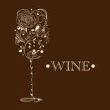 Entziehen Sie Weinkarte Lizenzfreie Stockfotos