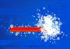Entziehen Sie Winterhintergrund. Vektor Lizenzfreies Stockfoto