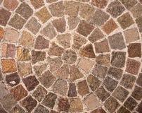 Entziehen Sie Ziegelstein-Kreis-Muster-Hintergrund Stockbilder