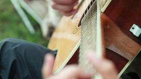 Enumerating strings stock video
